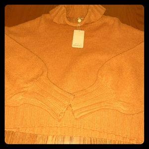 Bell sleeved spiced pumpkin sweater L